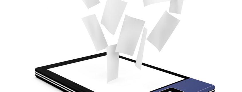electronic document scanning management storage